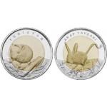2016 г. Монета Турция  МЫШЬ И ТУШКАНЧИК