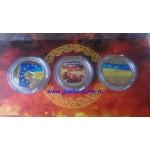 2015 Монета Украина 5 гривен ЕВРОМАЙДАН (3 МОНЕТЫ КОМПЛЕКТ) Ni