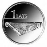 2013 Монета Латвия 1 лат ГУСЛИ