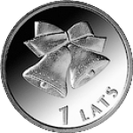 2012 Монета Латвия 1 лат КОЛОКОЛЬЧИКИ