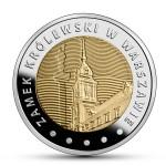 Монета Польша 5 злотых 2014 г КОРОЛЕВСКИЙ ЗАМОК В ВАРШАВЕ биметалл