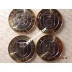 2012 Монета Литва 2 лита * 4 шт КУРОРТЫ ЛИТВЫ 4 МОНЕТЫ КОМПЛЕКТ НАБОР