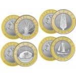 2013 Монета Литва 2 лита * 4 шт ПАМЯТНИКИ КУЛЬТУРЫ И ПРИРОДЫ набор 4 шт