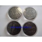Монета Беларусь 1 рубль 2014 г. вместо 2015 г. ЗОДИАКАЛЬНЫЙ ГОРОСКОП ОШИБКА или БРАК! 4 монеты RRR