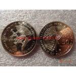 2012г. Монета Казахстан 50 тенге Станция МИР никель КОСМОС