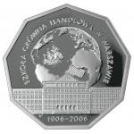 2006 г. Монета Польша 10 ЗЛОТЫХ  ВЫСШАЯ ЭКОНОМИЧЕСКАЯ ШКОЛА В ВАРШАВЕ Ag