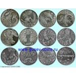 Монета БЕЛАРУСЬ 2014 - 2015 г | ЗОДИАКАЛЬНЫЙ ГОРОСКОП комплект 12 штук | 1 рублей | Ni |
